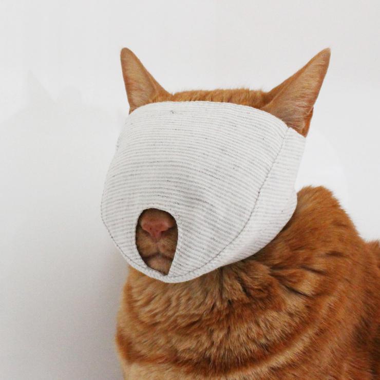 猫の爪切りマスク